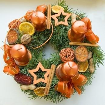 Advntní věnec - vánoční dekorace