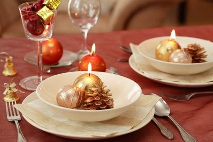 Slavnostní tabule - vánoční dekorace